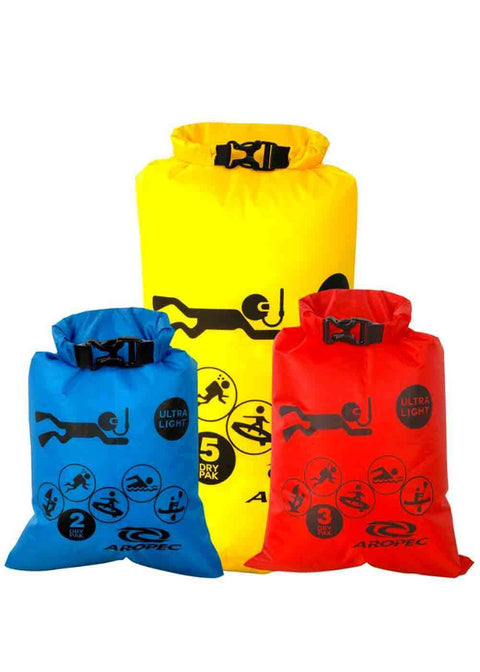 Aropec Dry Bag Set (2L Blue 3L Red 5L Yellow)
