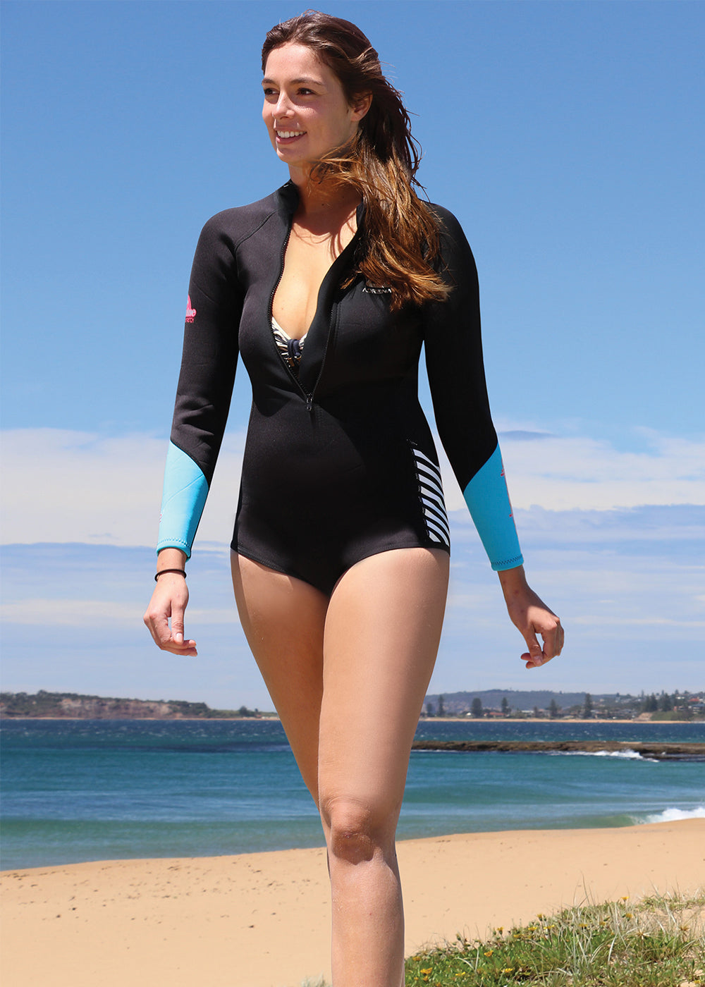 Adrenalin Womens Wahine Long Sleeve Cheeky Spring Suit Wetsuit