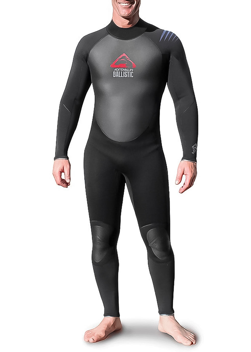Adrenalin Mens Ballistic Batwing 4 3mm Steamer Wetsuit - Buy online with Wetsuit Warehouse