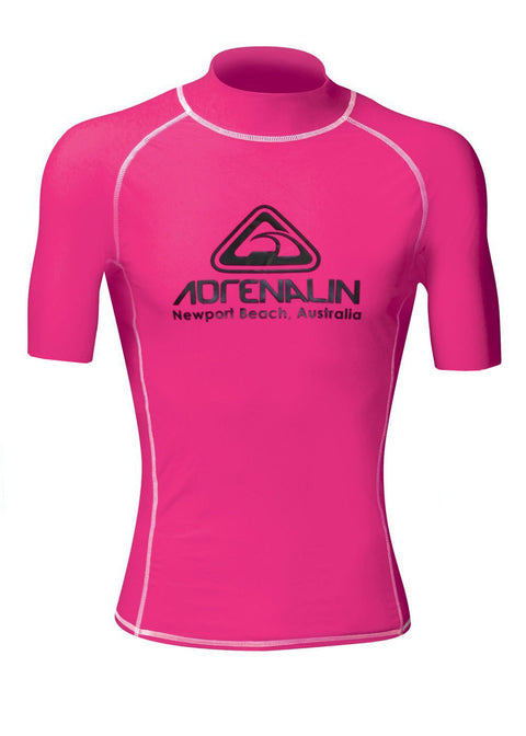 Adrenalin High Visibility Short Sleeve Adult Rash Guard