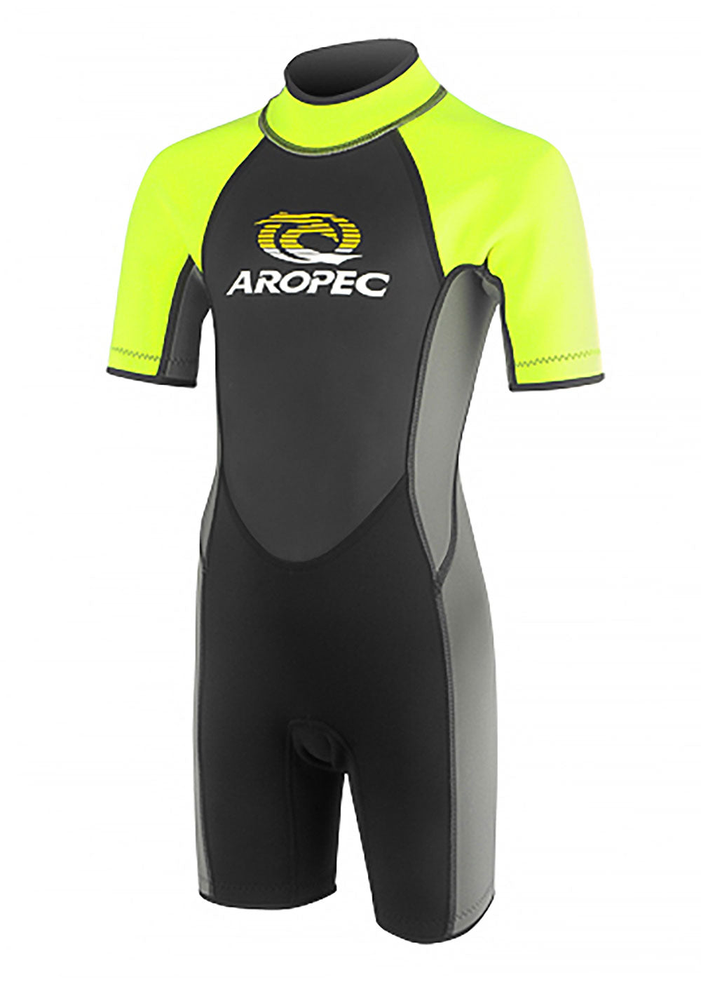 Aropec Youth 2.5mm Neon Yellow Spring Suit Wetsuit Warehouse
