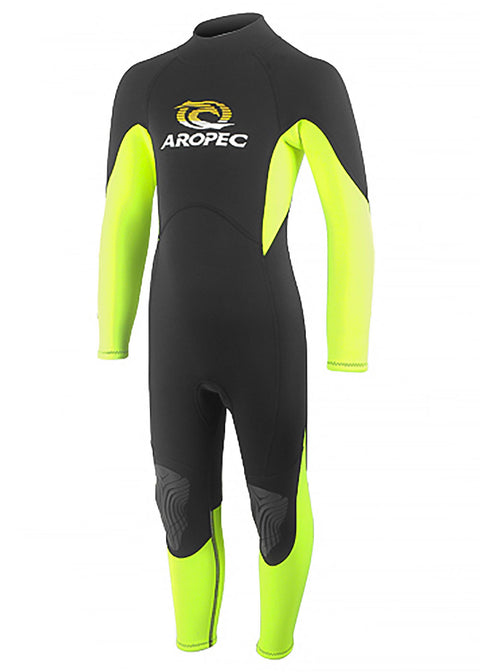 Aropec Youth 2mm Neon Yellow Steamer Wetsuit Warehouse