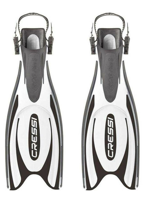 Cressi Frog Plus Fins - Black/White