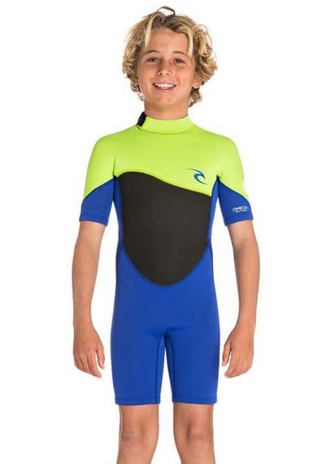 Rip Curl Boys Omega 1.5mm Short Sleeve Spring Suit Wetsuit