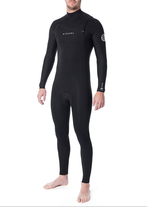 Rip Curl Mens Dawn Patrol 4/3mm GBS Chest Zip Steamer Wetsuit
