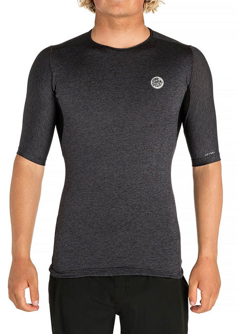 Rip Curl Mens Tech Bomb Short Sleeve Rash Guard