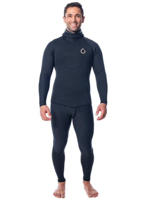 SALT Mens 5.0mm Hooded 2 Piece Wetsuit