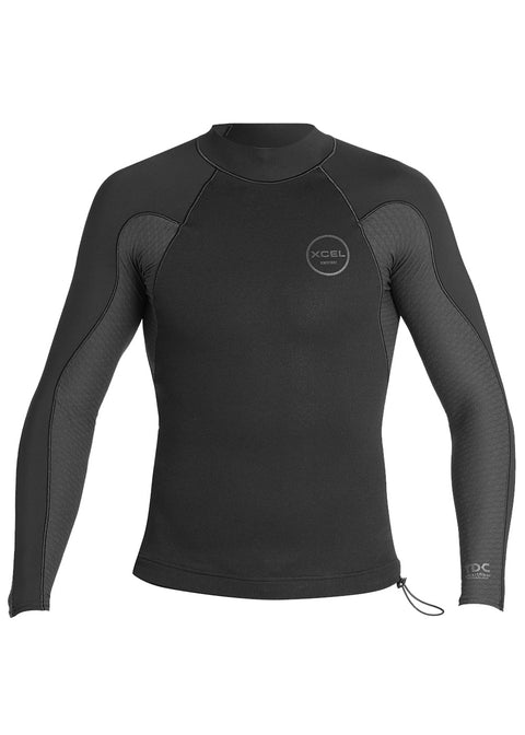Xcel Mens Axis Neostitch 1/0.5mm Long Sleeve Neoprene Top