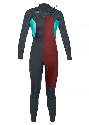 Xcel Womens Axis-X 3/2mm Chest Zip Steamer Wetsuit