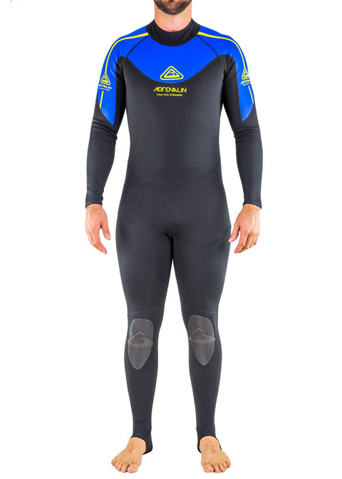 Adrenalin Mens Hardass 1mm Back Zip Steamer Wetsuit