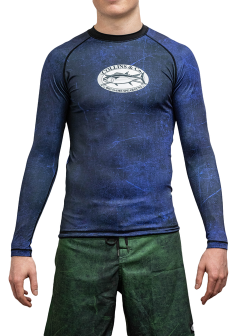 Collins & Co Long Sleeve Rash Guard in Blue