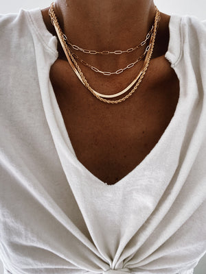Load image into Gallery viewer, Herringbone Necklace