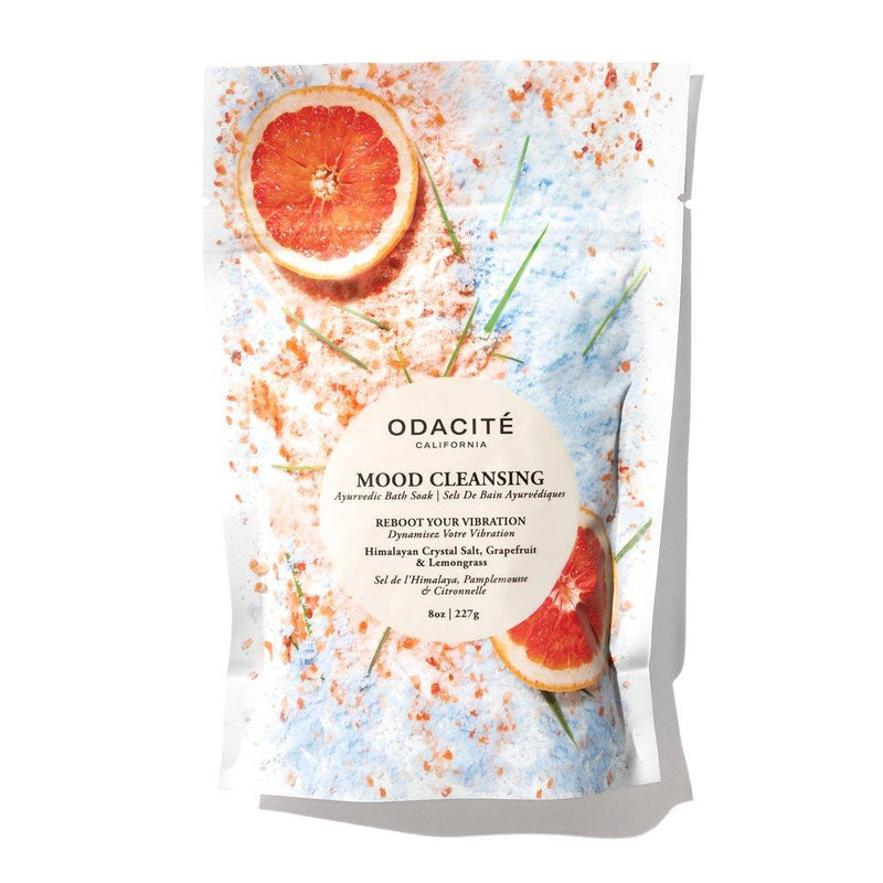 Odacité Mood Cleansing Ayurvedic Bath Soak Himalayan Crystal Salt, Grapefruit & Lemongrass - megan-graham-beauty