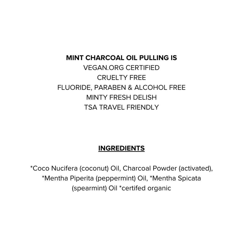 Vegan Mint Charcoal Oil Pulling Mouthwash - megan-graham-beauty