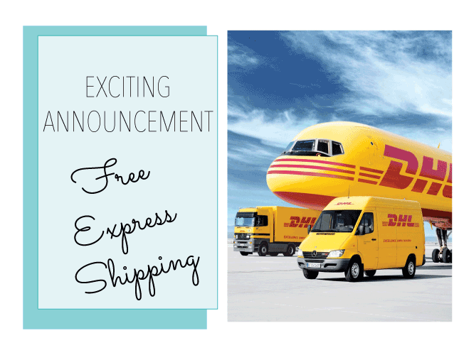 Exciting News - Free Express Shipping available