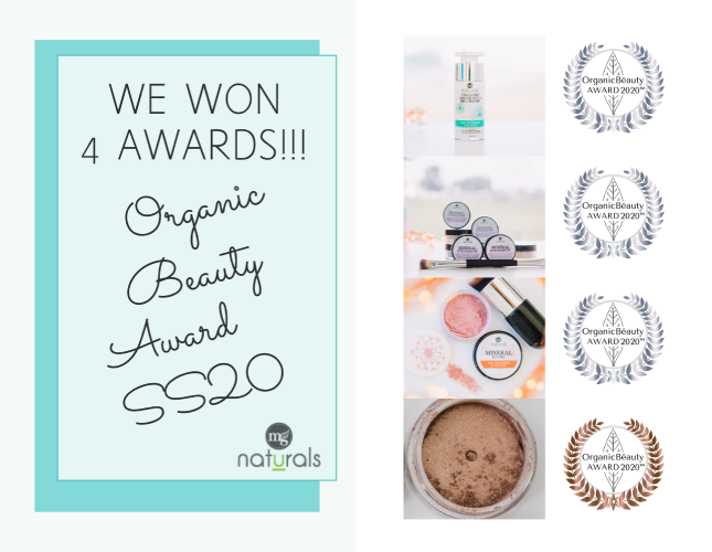 We Won 4 Awards!!! - Organic Beauty Award SS20