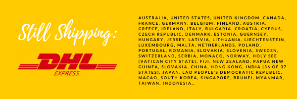 DHL shipping information.