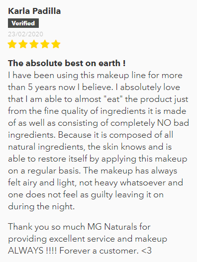 The best natural and organic bb cream, feedback from customer.
