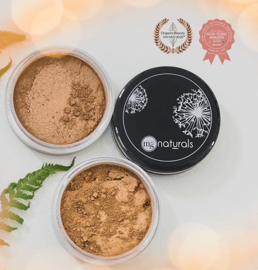 Titanium dioxide free, organic, cruelty free, vegan, nontoxic clean beauty mineral bronzer.