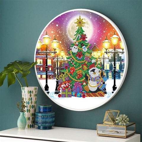 Hanging Christmas Tree With Frame
