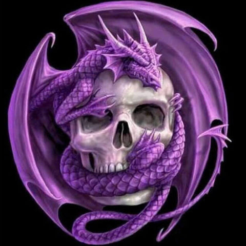Purple Dragon Skulls - TryPaint