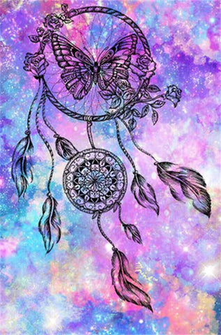 Butterfly DIY Dreamcatcher Art - TryPaint