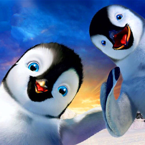 Two Cute Penguins - TryPaint