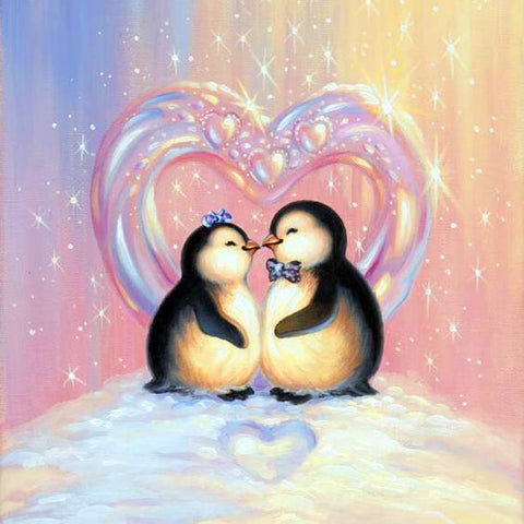 Little Penguins In Love - TryPaint