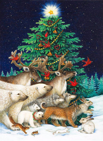 Animals Christmas Tree - TryPaint