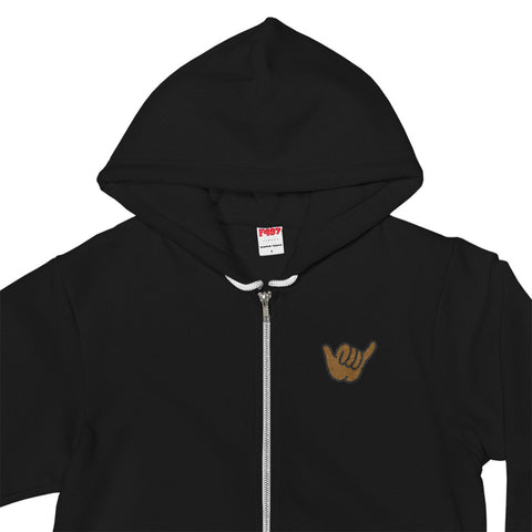 SHAKA VIBES Zip Up Hoodie - The Shaka Company