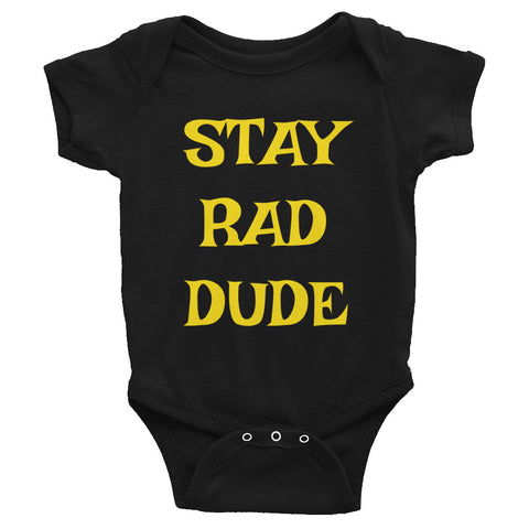 STAY RAD DUDE Short Sleeve Onesie-THE SHAKA COMPANY