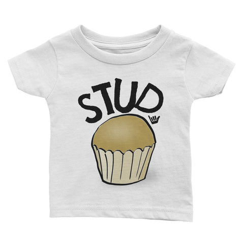 STUD MUFFIN Baby T-Shirt - The Shaka Company