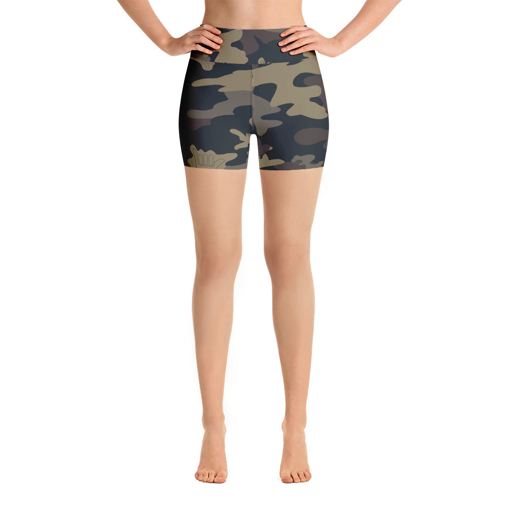 CAMO SHAKA Yoga Shorts - The Shaka Company