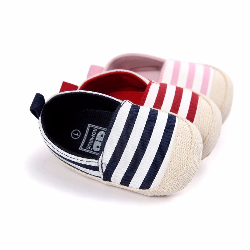 Striped  Infant First Walkers - The Shaka Company
