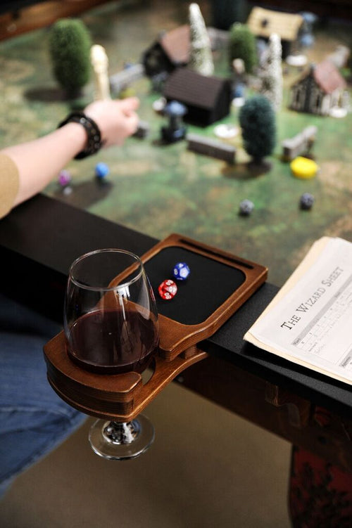 Two Cup Holders with Dice Tray - Fits Elite Series Tables Table of Ultimate Gaming