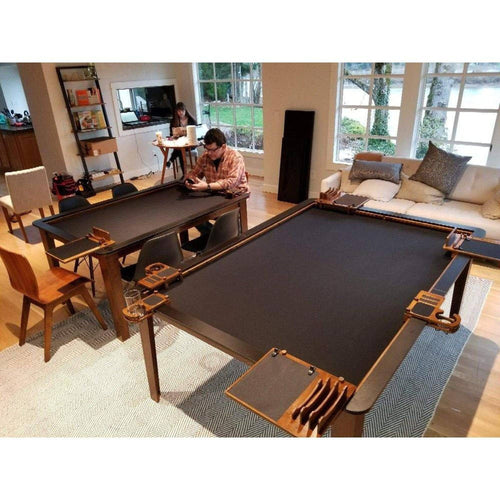 4'x6' Game Changer Series Walnut Table w/ Black Laminate Top Rails GameChanger Series Table of Ultimate Gaming
