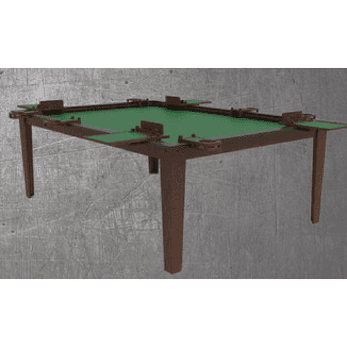 4'x6' Game Changer Series Walnut Table w/ Black Laminate Top Rails GameChanger Series Table of Ultimate Gaming Walnut