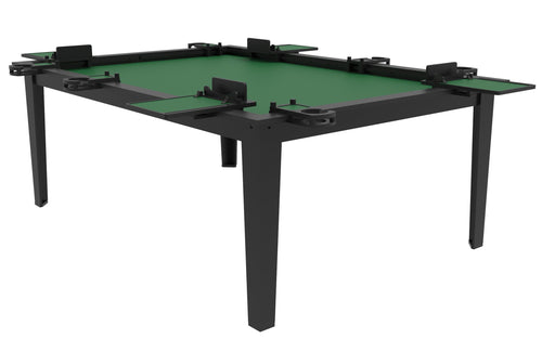 4'x6' Game Changer Series Walnut or Black Table w/ Black Laminate Top Rails GameChanger Series Table of Ultimate Gaming
