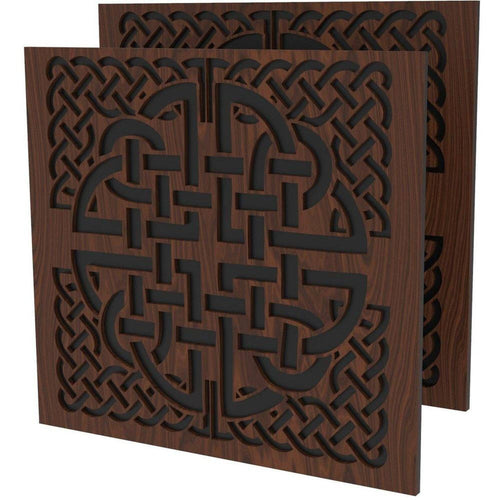 Celtic Knot Decoration 2 Pack for Chairs - Elite Series Table of Ultimate Gaming Walnut/black