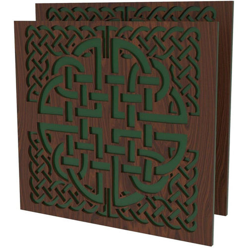 Celtic Knot Decoration 2 Pack for Chairs - Elite Series Table of Ultimate Gaming Walnut/green