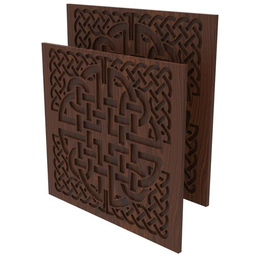 Celtic Knot Decoration 2 Pack for Chairs - Elite Series Table of Ultimate Gaming Walnut/walnut