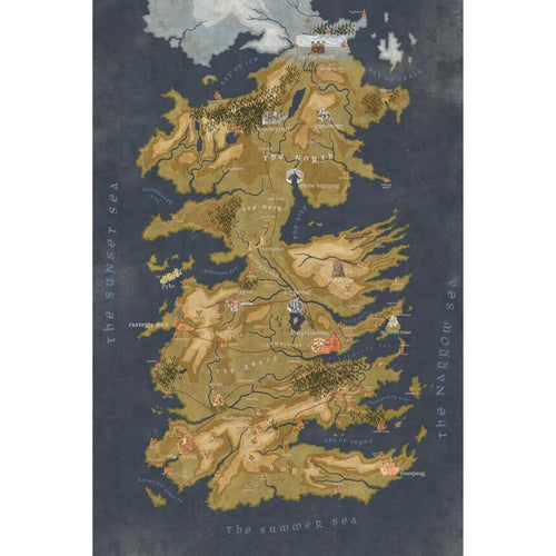 Table Drop In Playing Mats - Fits All Tables Table of Ultimate Gaming 2x4 Game of Thrones Cersei's Map