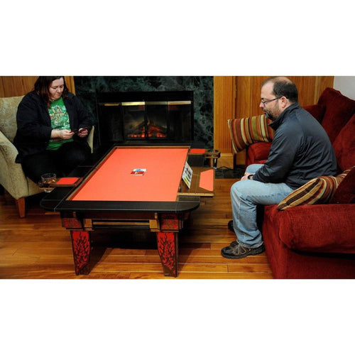2'x4' Elite Series Walnut Wood Coffee Table w/ Black Laminate Top Rails Table of Ultimate Gaming