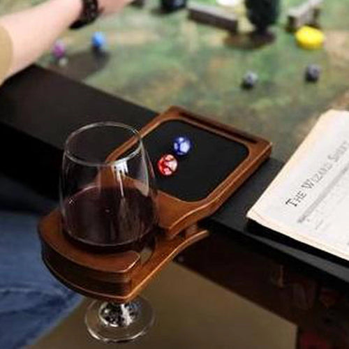 Two Cup Holders with Dice Tray - Fits Elite Series Tables Table of Ultimate Gaming Walnut