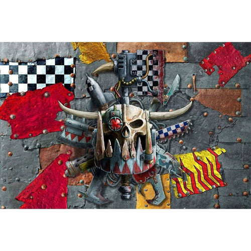 Table Drop In Playing Mats - Fits All Tables Table of Ultimate Gaming 4x6 Warhammer Orks WAAAG!