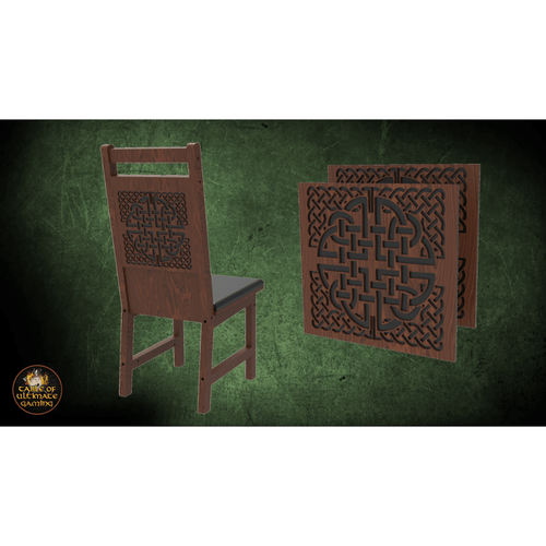 Celtic Knot Decoration 2 Pack for Chairs - Elite Series Table of Ultimate Gaming