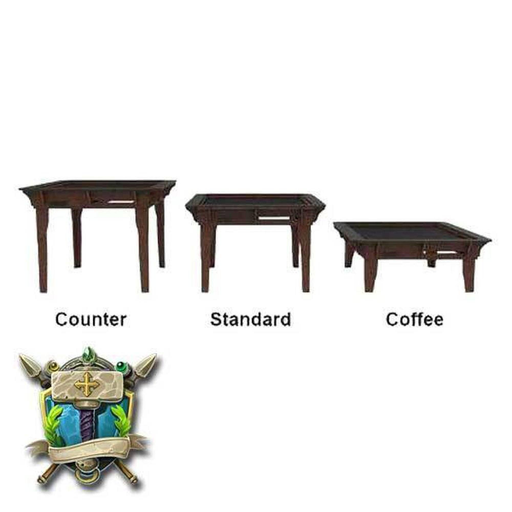 Gaming Coffee Table, Counter Height & Standard Gaming Table ...