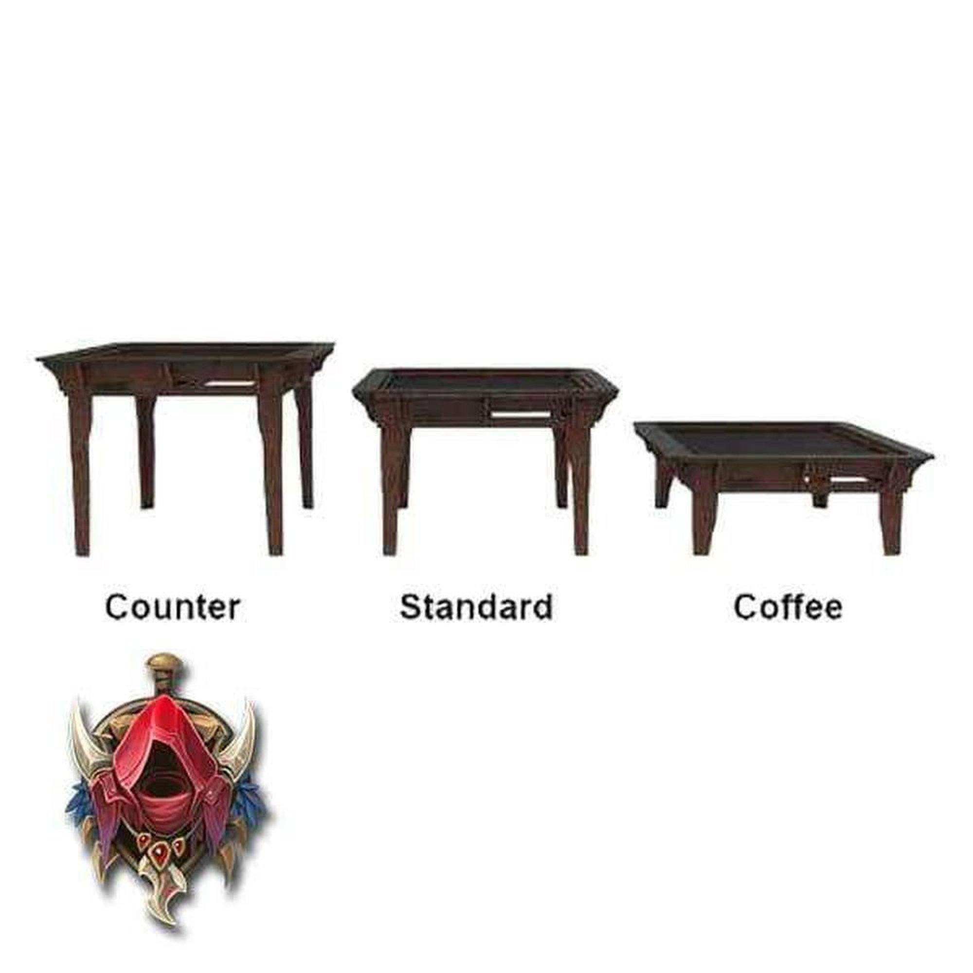 Gaming Coffee Table Counter Height Standard Gaming Table Legs