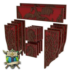Dragon & Flames Decoration - Elite Series-Table of Ultimate Gaming