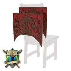 Dragons & Flames Decoration 2 Pack for Chairs - Elite Series-Table of Ultimate Gaming